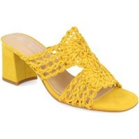 Schoenen Dames Leren slippers H&d YZ19-68 Amarillo