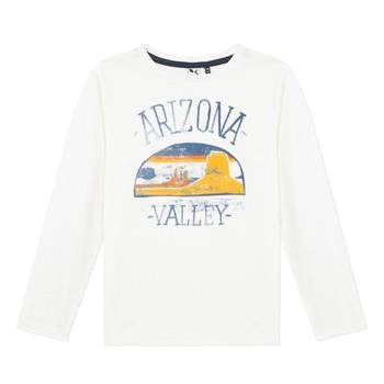 Textiel Jongens T-shirts met lange mouwen 3 Pommes 3R10005-19-C Wit