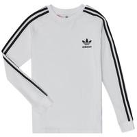 Textiel Kinderen T-shirts met lange mouwen adidas Originals 3STRIPES LS Wit