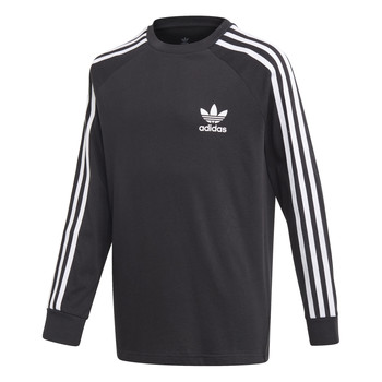 Textiel Kinderen T-shirts met lange mouwen adidas Originals 3STRIPES LS Zwart