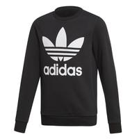 Textiel Kinderen Sweaters / Sweatshirts adidas Originals TREFOIL CREW Zwart