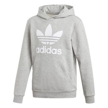 Textiel Kinderen Sweaters / Sweatshirts adidas Originals TREFOIL HOODIE Grijs