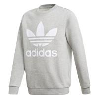 Textiel Jongens Sweaters / Sweatshirts adidas Originals TREFOIL CREW Grijs