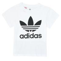 Textiel Kinderen T-shirts korte mouwen adidas Originals TREFOIL TEE Wit
