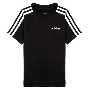 Textiel Jongens T-shirts korte mouwen adidas Performance YB E 3S TEE Zwart