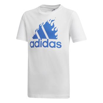 Textiel Jongens T-shirts korte mouwen adidas Performance JB BOS GRAPH Wit