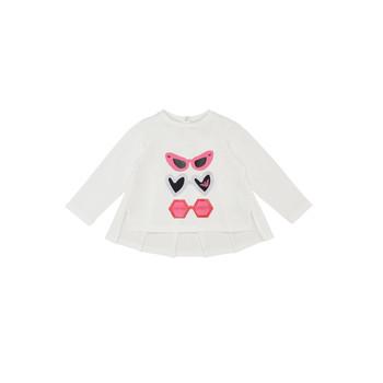 Textiel Meisjes T-shirts met lange mouwen Emporio Armani 6HEM01-3J2IZ-0101 Wit
