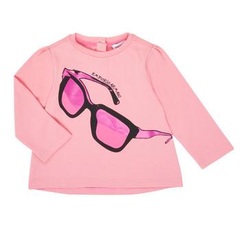 Textiel Meisjes T-shirts met lange mouwen Emporio Armani 6HET02-3J2IZ-0315 Roze