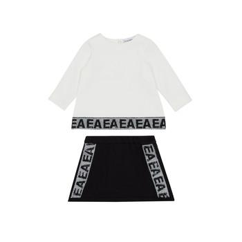 Textiel Meisjes Setjes Emporio Armani 6HEV08-3J3PZ-0101 Wit / Zwart