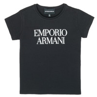 Textiel Meisjes T-shirts korte mouwen Emporio Armani 8N3T03-3J08Z-0999 Zwart