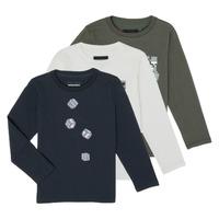 Textiel Jongens T-shirts met lange mouwen Emporio Armani 6H4D01-4J09Z-0564 Multicolour