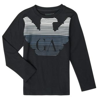 Textiel Jongens T-shirts met lange mouwen Emporio Armani 6H4T17-1J00Z-0999 Zwart