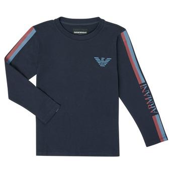 Textiel Jongens T-shirts met lange mouwen Emporio Armani 6H4TJD-1J00Z-0920 Marine