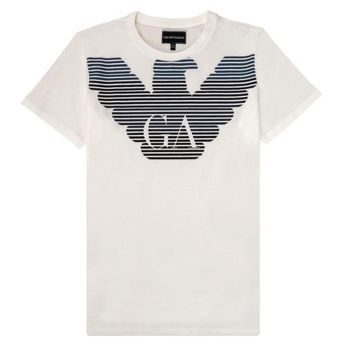 Textiel Jongens T-shirts korte mouwen Emporio Armani 6H4TQ7-1J00Z-0101 Wit