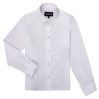 Textiel Jongens Overhemden lange mouwen Emporio Armani 8N4CJ0-1N06Z-0100 Wit
