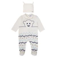 Textiel Jongens Pyjama's / nachthemden Emporio Armani 6HHV08-4J3IZ-0101 Wit / Blauw