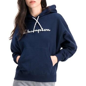 Textiel Dames Sweaters / Sweatshirts Champion Hooded Bleu marine