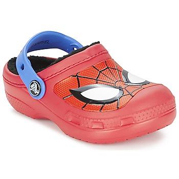 Schoenen Jongens Klompen Crocs SPIDERMAN LINED CLOG Rood