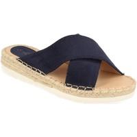 Schoenen Dames Leren slippers Suncolor 9082 Azul