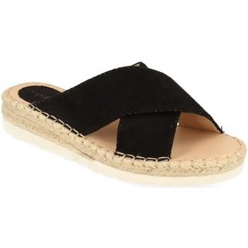 Schoenen Dames Leren slippers Suncolor 9082 Negro