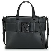 Tassen Dames Handtassen kort hengsel Armani Exchange 942689-0A874-00020 Zwart