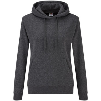 Textiel Dames Sweaters / Sweatshirts Fruit Of The Loom Hooded Donker Heather