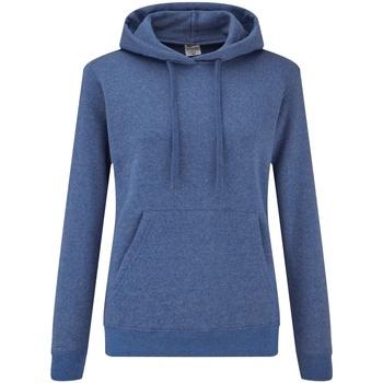 Textiel Dames Sweaters / Sweatshirts Fruit Of The Loom Hooded Heather Royaal Blauw