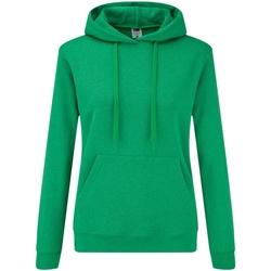 Textiel Dames Sweaters / Sweatshirts Fruit Of The Loom Hooded Heather Groen