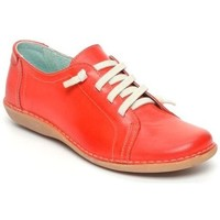 Schoenen Dames Lage sneakers Boleta Zapatos casual de piel by Boleta (Chacal Shoes) Rouge