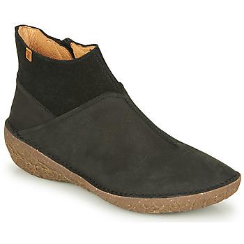Schoenen Dames Laarzen El Naturalista BORAGO Zwart