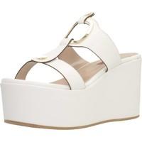 Schoenen Dames Leren slippers Albano 4235 Wit