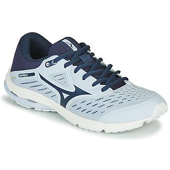 Schoenen Meisjes Running / trail Mizuno WAVE RIDER JR Blauw