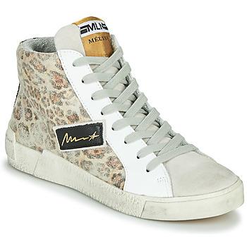 Schoenen Dames Hoge sneakers Meline NK5050 Beige / Leopard