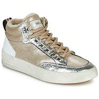 Schoenen Dames Hoge sneakers Meline STRA5056 Beige / Goud