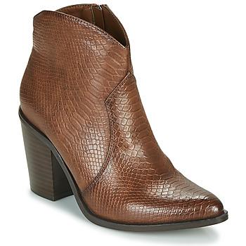 Schoenen Dames Enkellaarzen MTNG 50187-C50166 Brown