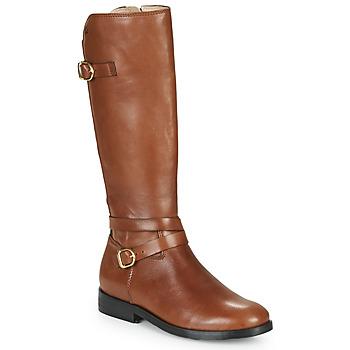Schoenen Meisjes Hoge laarzen Acebo's 9863-CUERO-T Brown