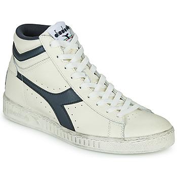 Schoenen Hoge sneakers Diadora GAME L HIGH WAXED Wit / Blauw