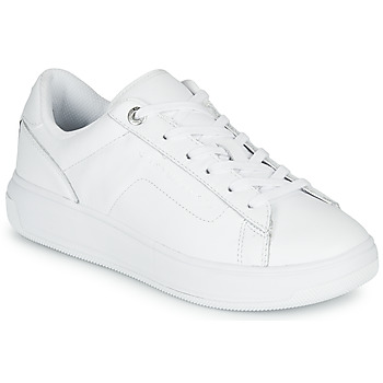 Schoenen Dames Lage sneakers Tommy Hilfiger LEATHER TOMMY HILFIGER CUPSOLE Wit