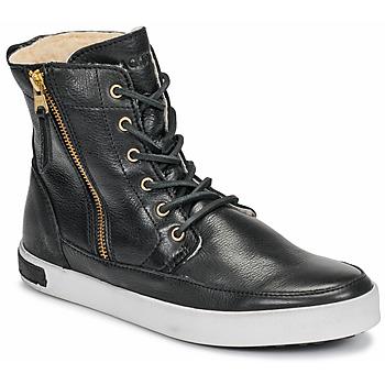 Schoenen Dames Hoge sneakers Blackstone  Zwart