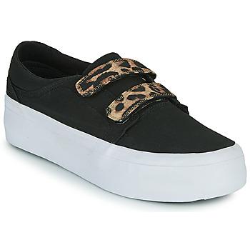 Schoenen Dames Hoge sneakers DC Shoes TRASE PLATEFORM V Zwart / Leopard