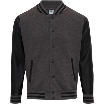 Textiel Heren Wind jackets Awdis JH042 Houtskool/Jet zwart