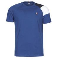 Textiel Heren T-shirts korte mouwen Le Coq Sportif ESS TEE SS N°10 M Blauw