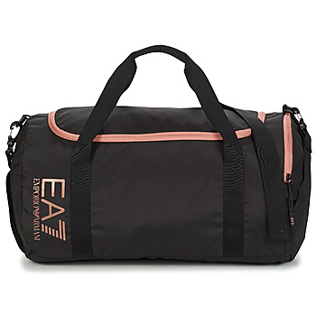 Tassen Dames Sporttas Emporio Armani EA7 TRAIN CORE U GYM BAG SMALL Zwart / Roze