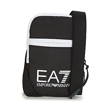 Tassen Heren Tasjes / Handtasjes Emporio Armani EA7 TRAIN CORE U MINI POUCH BAG Zwart / Wit