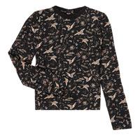 Textiel Meisjes T-shirts met lange mouwen Ikks XR12052 Zwart