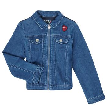 Textiel Meisjes Spijker jassen Ikks XR40052 Blauw