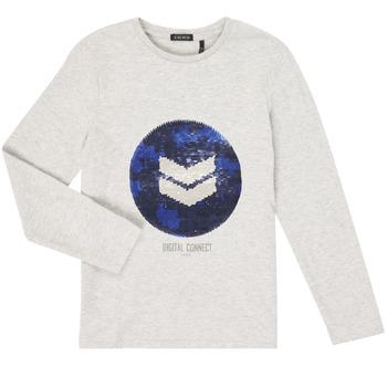 Textiel Jongens T-shirts met lange mouwen Ikks XR10273 Grijs