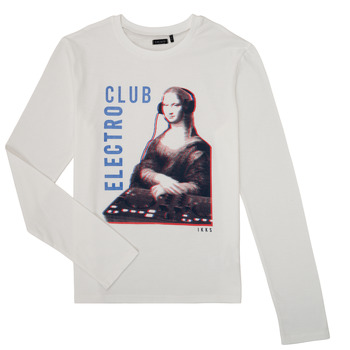 Textiel Jongens T-shirts met lange mouwen Ikks XR10333 Wit