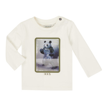 Textiel Jongens T-shirts met lange mouwen Ikks XR10101 Wit