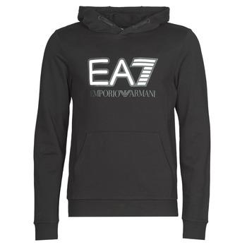 Textiel Heren Sweaters / Sweatshirts Emporio Armani EA7 TRAIN VISIBILITY M HOODIE RN COFT Zwart